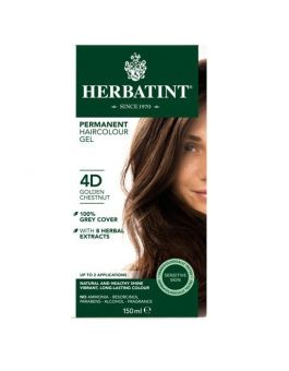 Herbatint Permanent Hair Colour 4D Golden Chestnut