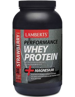Lamberts Whey Protein Strawberry (1000 g) powder # 7002