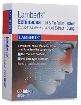 Lamberts Echinacea Tablets Echinacea Purpurea Root Extract 105mg 60 Tabs #8002