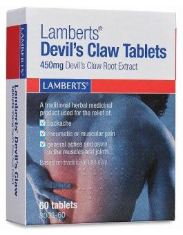 Lamberts Devil's Claw Tablets 450mg Devil's Claw Extract 60 Tabs #8003