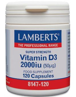 Lamberts Vitamin D3 2000iu ( 50 mg) 120 Capsules # 8147