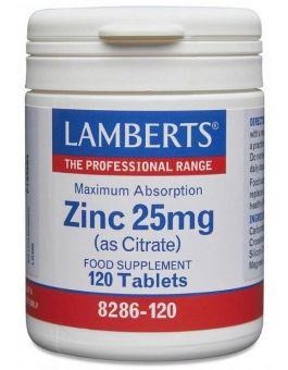 Lamberts Zinc Citrate 25mg 120 Tabs #8286
