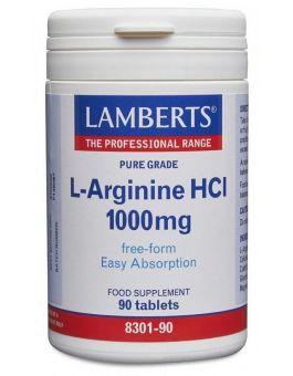 Lamberts L-Arginine 1000mg (90 Tablets) # 8301