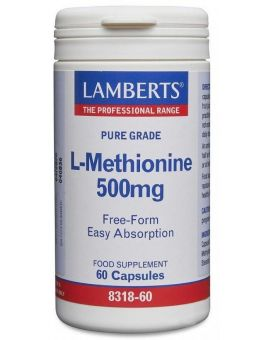 Lamberts L-Methionine 500mg60 Caps #8318