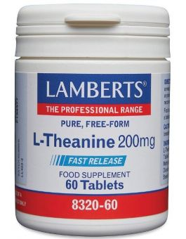 Lamberts L-Theanine 200mg ( 60 Tablets) # 8320