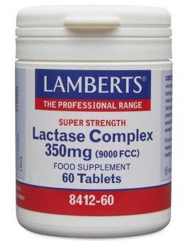 Lamberts Lactase Complex 350mg Super Strength(Equivalent 9000 Fcc) 60 Tabs #8412