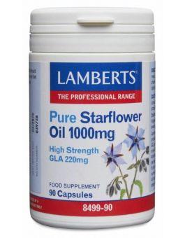 Lamberts Pure Starflower Oil 1000mg (90 Capsules) # 8499