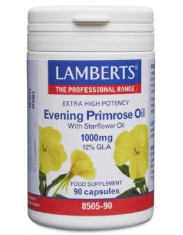 Lamberts Extra High Potency Evening Primrose Oil with Starflower Oil 1000 mg (90 Caps) # 8505
