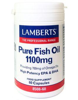 Lamberts Pure Fish Oil 1100mg (EPA 360mg/DHA 240mg) 60 Caps #8508