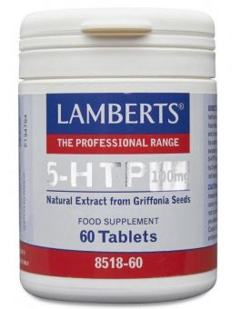 Lamberts 5-HTP 100mg (Natural extract from Griffonia Seeds) 60 Tablets # 8518