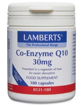 Lamberts Co-Enzyme Q10 30mg (180 Caps ) # 8531