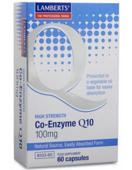 Lamberts Co-Enzyme Q10 100mg ( 60 Capsules) # 8533