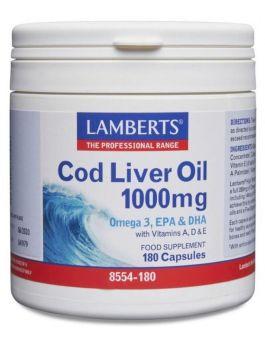 Lamberts Cod Liver Oil 1000mg (180 Capsules) # 8554