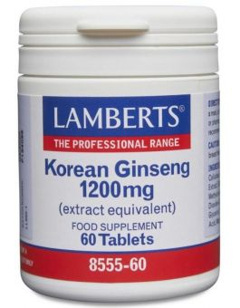 Lamberts Korean Ginseng 1200mg (60 Capsules) # 8555