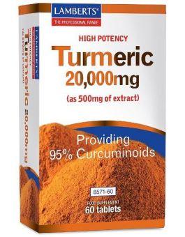 Lamberts Turmeric 20,000mg Extract ( 60 Tablets ) # 8571