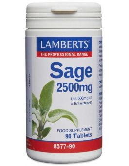 Lamberts Sage 2500mg (2.5% rosmarinic acid) 90 Tablets # 8577