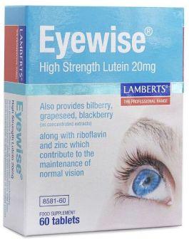 Lamberts Eyewise High strength Lutein 20mg ( 60 Tablets) # 8581