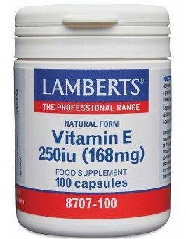 Lamberts Natural Vitamin E 250 i.u. (100 Capsules) # 8707