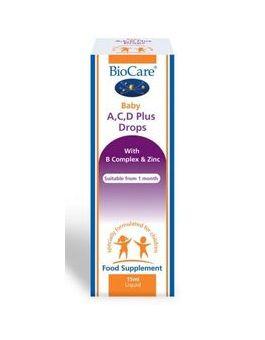 BioCare Baby A, C, D Plus Drops 15ml # 77815