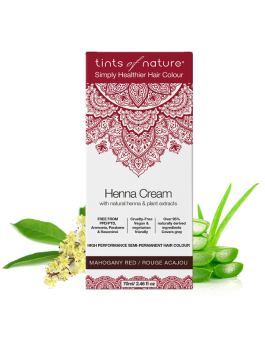 Tints Of Nature Mahogany Red Henna Cream Semi Permanent Colour (PPD Free)