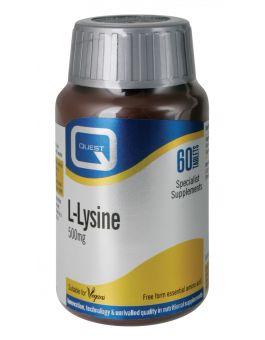 Quest Vitamins - L-Lysine 500mg (60 Capsules)