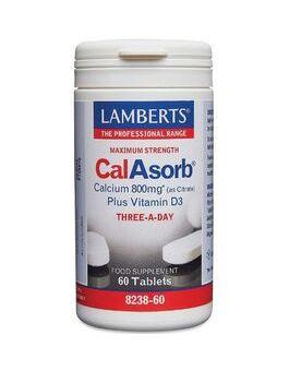 Lamberts CalAsorb - Calcium 800mg (60 Tablets) # 8238