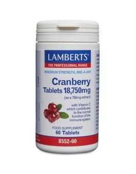 Lamberts Cranberry Tablets 18,750mg 60 Tabs #8552
