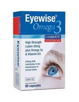 Lamberts Eyewise® Omega 3 New High Strength Lutein 20mg Plus Omega 3s & Vitamin D3 60 Caps #8582