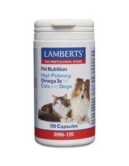 Lamberts High Potency Omega 3s For Cats And Dogs 120 Caps #8996