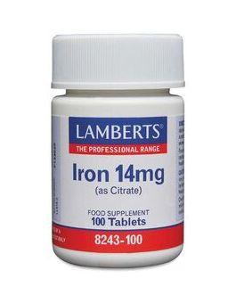 Lamberts Iron 14mg (100 Tablets) # 8243