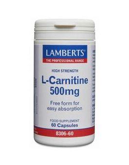 Lamberts L-Carnitine 500mg  (60 Capsules) # 8306
