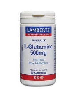 Lamberts L-Glutamine 500mg 90 Caps #8310