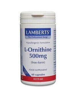 Lamberts L-Ornithine 500mg (60 Capsules) # 8319
