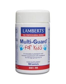 Lamberts Multi-Guard® For Kids Aspartame Free For Children From 4 - 14 Years Of Age 100 Tabs #8461