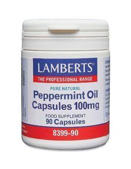 Lamberts Peppermint Oil Capsules 100mg (90 Capsules) # 8399