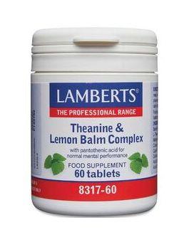 Lamberts Theanine & Lemon Balm Complex60 Tabs #8317