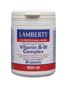 Lamberts Vitamin B-50 Complex ( 60 Tablets ) # 8029