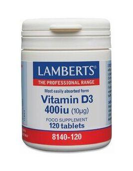 Lamberts Vitamin D3 400 iu (10mcg) 120 Tablets # 8140