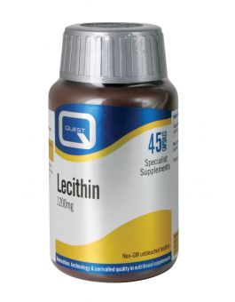 Quest Vitamins - Lecithin 1200mg (45 Capsules)