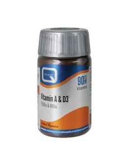 Quest Vitamins - Vitamin A & D (90 Capsules)