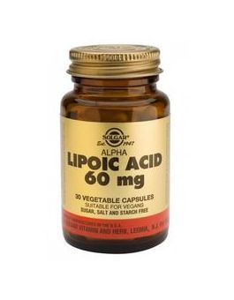 Solgar Alpha Lipoic Acid 60 mg (30 Vegicaps) # 55