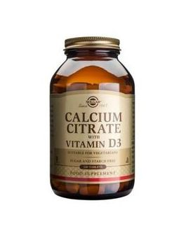 Solgar Calcium Citrate With Vitamin D (240 Tablets) # 432