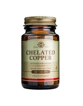Solgar Chelated Copper (100 Tablets) # 640