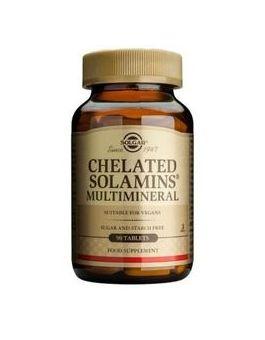 Solgar Chelated Solamins Multimineral  90 Tablets # 780