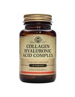 Solgar Collagen Hyaluronic Acid Complex 30 Tablets # 1417