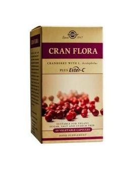 Solgar Cran Flora with Probiotics plus Ester C (60 Capsules) # 31405