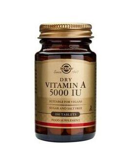 Solgar Dry Vitamin A 5000iu (1502µg) (100 Tablets) # 2820