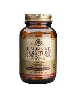 Solgar L-Arginine 500mg-L-Ornithine 250mg (50 Vegicaps) # 160