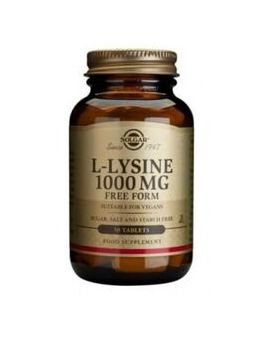 Solgar L-Lysine 1000mg (50 Tablets)  # 1700