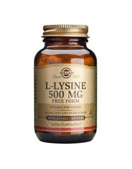 Solgar L-Lysine 500mg 50 (Vegcaps) # 1680